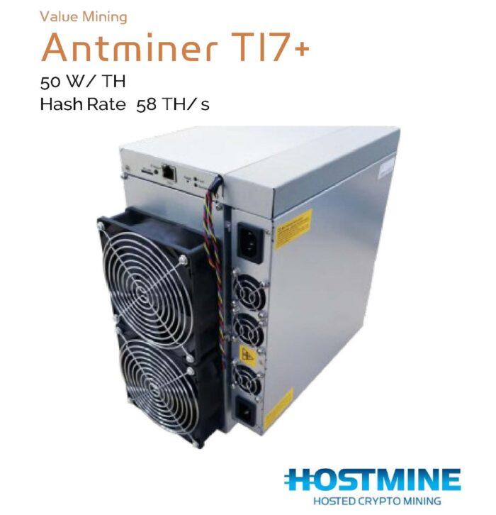 AntMiner T17+ 58 TH/s | HOSTMINE
