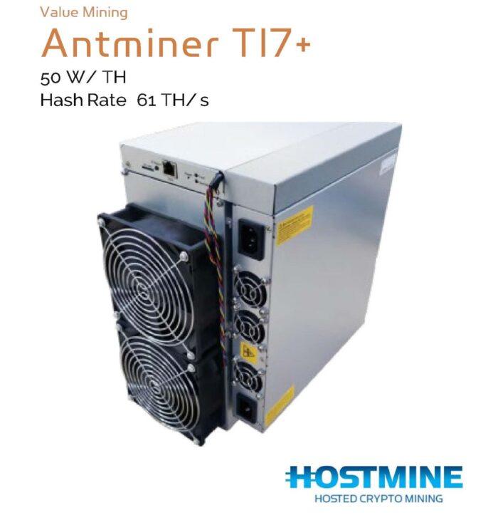 AntMiner T17+ 61 TH/s   HOSTMINE